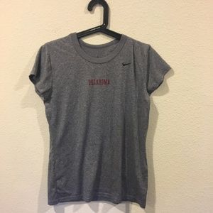 Nike gray 'Oklahoma' short sleeve tee